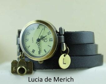 Camera wrist watch - Personalized Camera  watch -  Initial Camera watch- Photograph gift - Gift-Black friday - Cyber monday