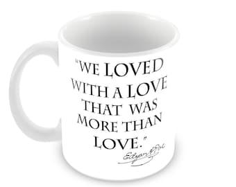 Poe Annabel Lee Ceramic Mug with Quote and Signature
