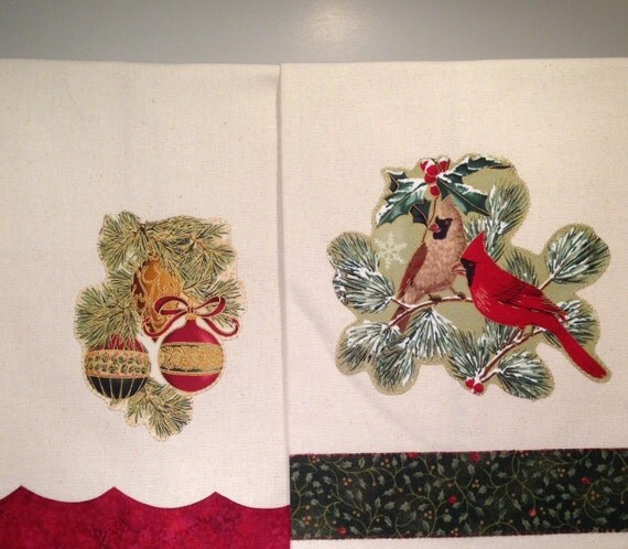 Items Similar To Christmas Holiday Kitchen Towels, Dish