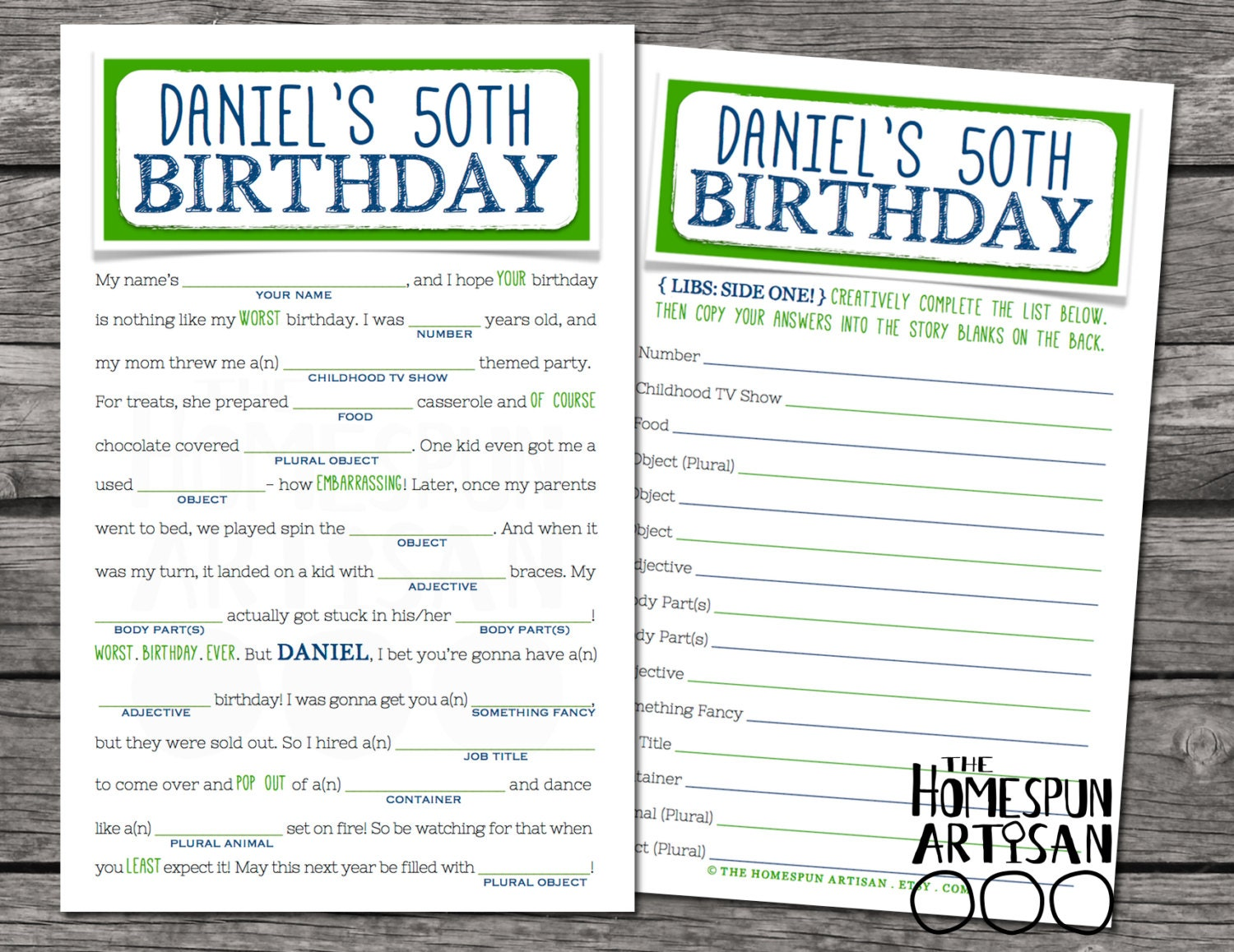 Nifty image with birthday mad libs printable