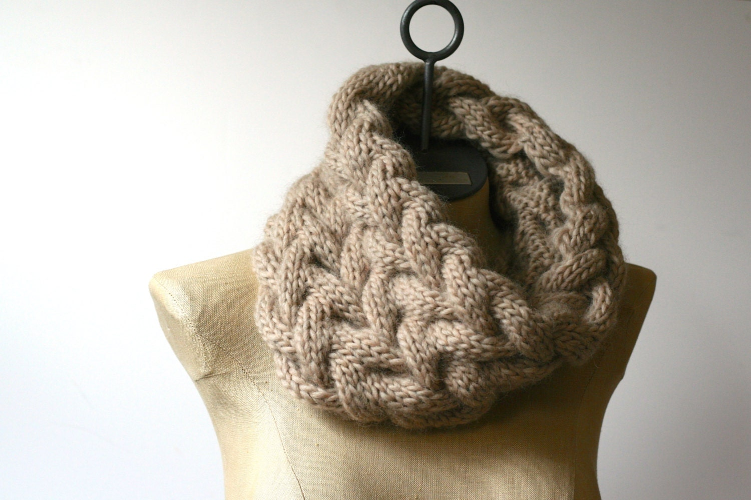 more colors the cozy cabled cowl hand knit 100  pure wool neck