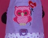 DOG HARNESS -- Valentine Owl