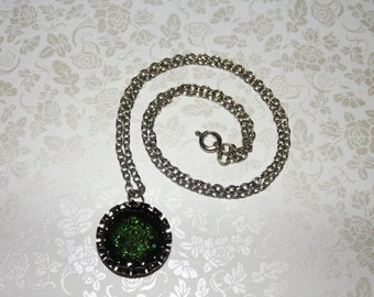 Metallic Forest Emeralds Marble Necklace