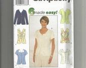 Simplicity pattern 8041 Misses Blouse Size 18 20 22