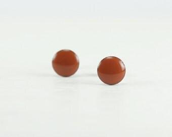 TERRACOTTA Stud Earrings  - Terracotta Earrings - Terracotta Ear Studs - Terracotta Earrings Stud - Gifts for Her - 4mm / 6mm / 8mm