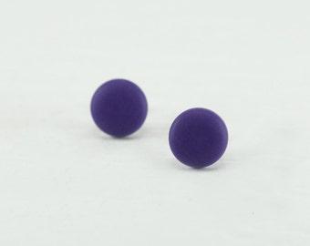Purple Stud Earrings - Purple Studs - Matte Purple Earrings - Mens Earrings - Mens Studs - Mens Stud Earrings - Matte Purple Studs - Gifts