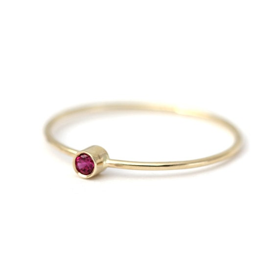 thin gold ring promise ring for gold ruby ring 14k