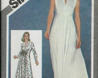 Simplicity 9750 Misses Princess Seamed Dress Pattern, Two Lengths, Size 14, UNCUT