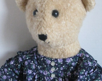 Vintage Teddy Bear, Hand Made, 1980's
