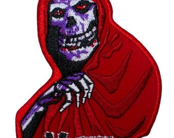 Misfits Crimson Ghost Band Mascot Punk Rock Embroidered Iron On Applique Patch