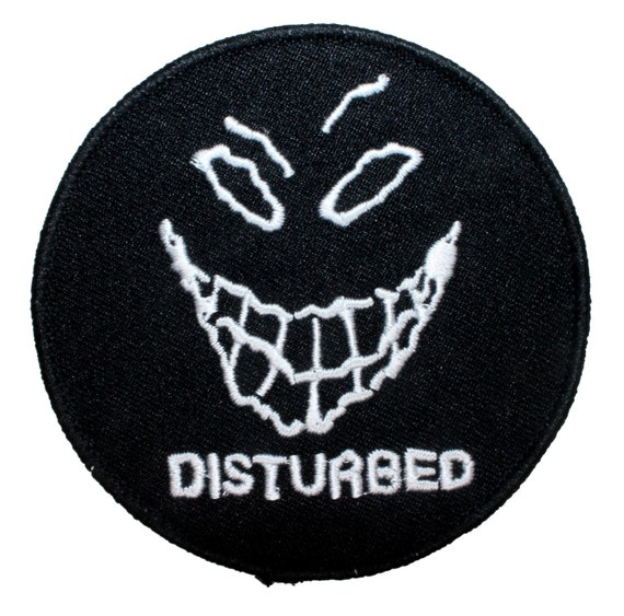 Disturbed Band Mascot The Guy Evil Grin Logo Metal