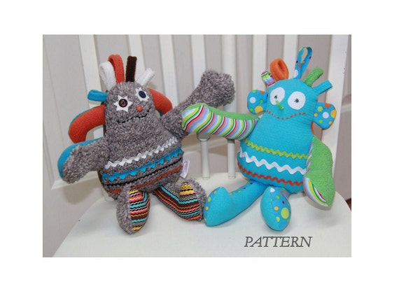 PATTERN PDF for Especially Terrific Creature Stuffed Toy