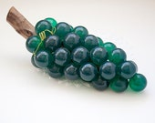 Turquoise Grape Cluster, Resin Grapes