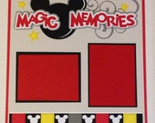 Personalized Mickey Disney Themed Premade Scrapbook Layout 1 page 12x12