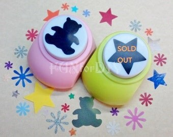 32~35mm extra large size paper punch --  bear OR star, Jewelry Template, Stud earrings holder