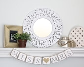 Bridal shower banner - Miss to Mrs Sign – Bridal Shower Decorations – From Miss to Mrs banner – Bachelorette Party Photo Prop