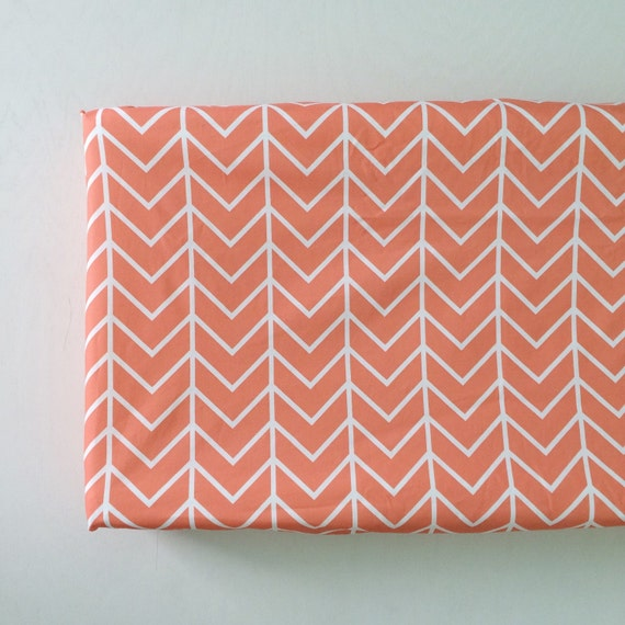 changing pad cover coral chevron change pad changing by iviebaby. Black Bedroom Furniture Sets. Home Design Ideas