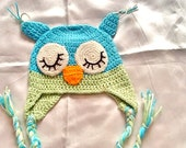 SALE-----BABY OWL Hat ---kids owl hat -crochet owl hat -animal hat -knitted owl hat