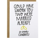 Funny Wedding Card - Funny Bridal Shower Card - Wedding Congratulations Card - Funny Engagement Card Funny - Wedding Card Congrats