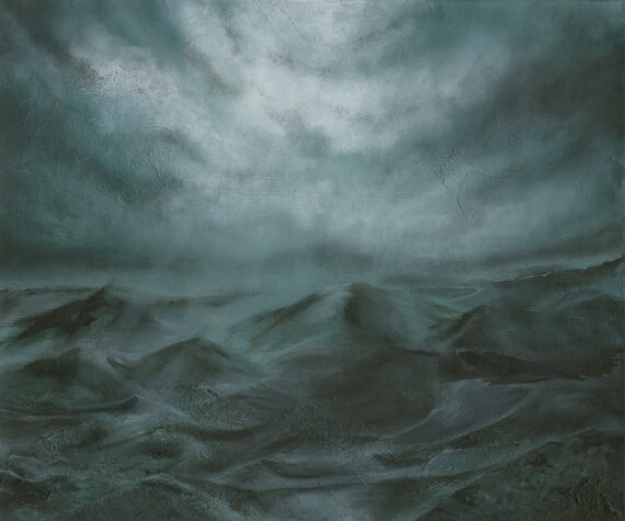 """ORIGINAL 20""""x24"""" """"Dreams of Those that Wake"""" dark surreal landscape painting on stretched canvas"""