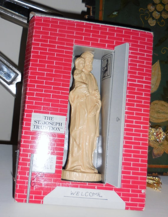 vintage saint joseph sell your home statue and. Black Bedroom Furniture Sets. Home Design Ideas