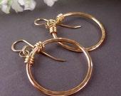 Gold Hoop Earrings  - Gift for Her