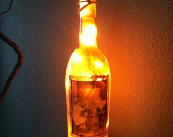 Wine Bottle Light Wine Quote Home Decor Man Cave By