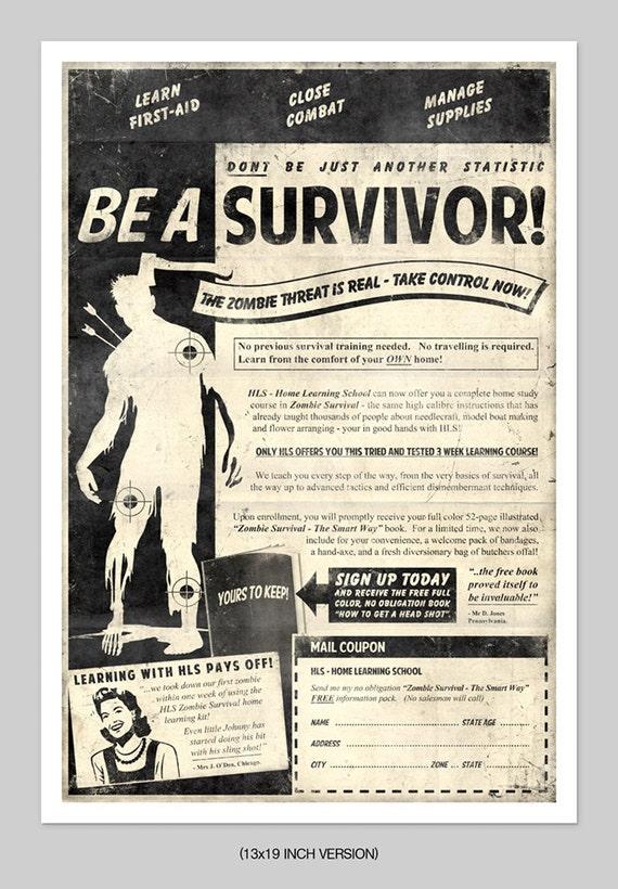 Zombie Survival Print