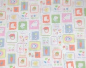 Vintage Easter Fabric Cotton Fabric Quilt Fabric Pastel Colors Sewing Fabric JoAnn Stores Destash Commercial Supply