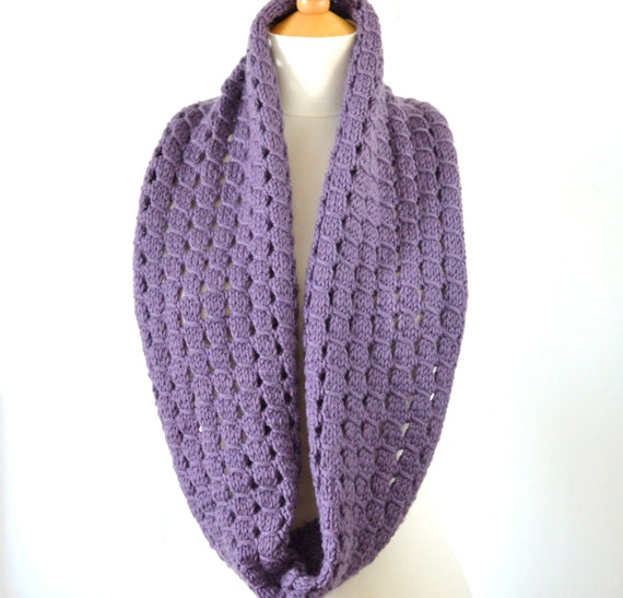 Knitting Pattern Infinity Scarf Easy Improving Beginner