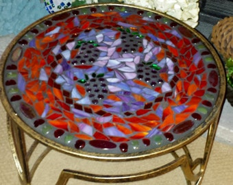 Made to Order-Stunning Mosaic Accent Table - indoors or outdoors