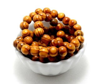 Strand of olive wood beads, 12mm - 38 beads