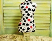 Apple Dress Form Mannequin pincushion / Necklace display / Brooch holder  (reserved)