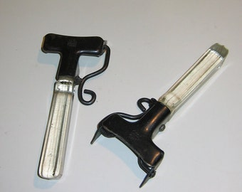 Retro Vintage 1960s Pyrex Grip Lock Glass Handles for Casserole or Cooking Pans