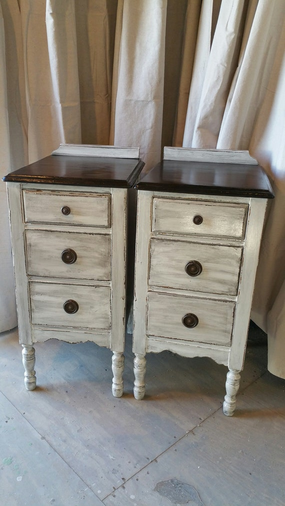 Items similar to sold vintage nightstands repurposed from Things to use as nightstands