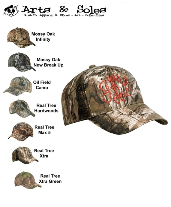 Camouflage Personalized Embroidered Monograms Baseball Hat Cap by Arts and Soles