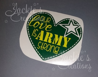 Our Love is ARMY Strong Decal