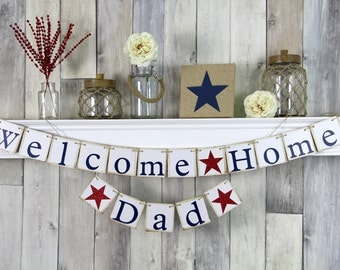Patriotic bunting etsy for Patriotic welcome home decorations