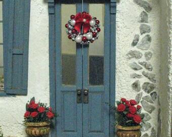 Dollhouse Miniature Beaded Wreath