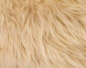 Faux/Fake Fur Luxury Shag Camel 58 Inch Fabric by the Yard - 1 Yard