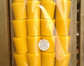 20 100% Pure English Beeswax Votive Candle Unscented 3.5 x 5cm Solid Cast