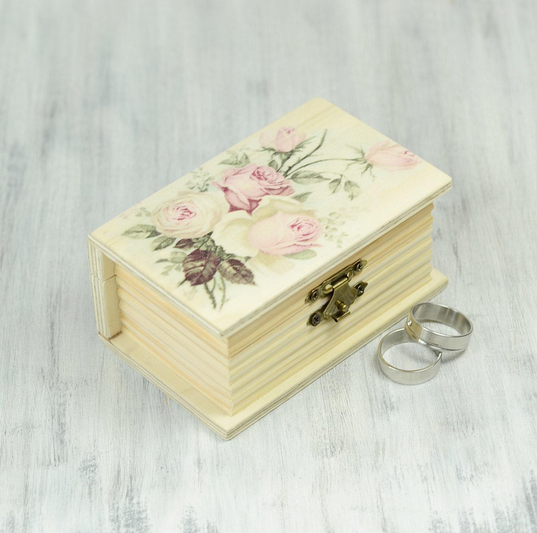 Ring bearer box wedding box wedding ring bearer pillow book for Wedding ring bearer