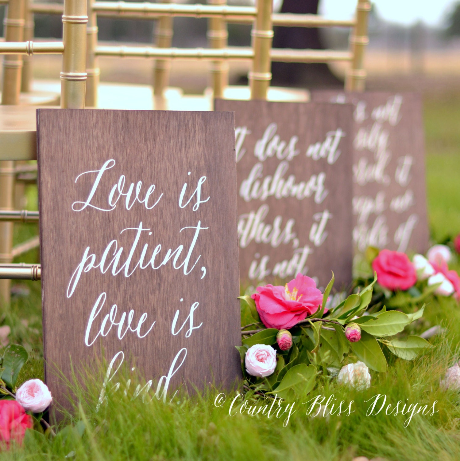 Set Of 1 Corinthians 13 Signs Love Never By