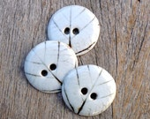 Grey White XL Sewing Buttons, Leaf Design Fashion Accessories,Focal Buttons