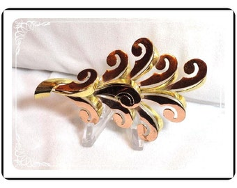 Sterling Vermeil Monet Brooch -  Lg  HTF Absolutely Drool Worthy Monet Brooch   Pin-1033a-121611000