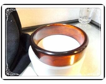 Apple Juice Bracelet  - Stunning Vintage Amber Apple Juice Bakelite Vintage  Bracelet  - Brac-2551a-112413001