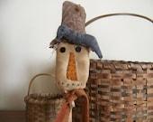 Primitive Scarecrow Bobbin Fall Harvest Decor