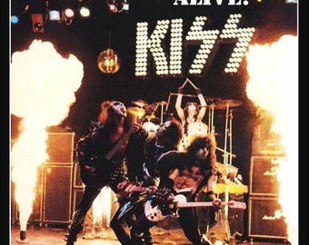 KISS ALIVE Cobo Hall Jan 25th 1976 Stand-Up Display - KISS Collectibles Collection Collector Army Posters Gift Idea Retro Band