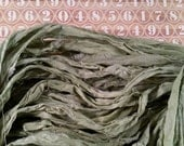 4 yds Beautiful Light Sage Green Sari Ribbon Silk Chiffon Trim