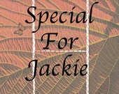 Special listing for Jackie